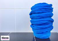 Тодстая пряжа из шерсти мериноса. 21-24 микрон. Синий