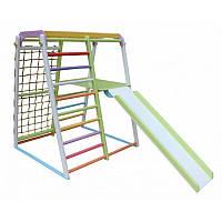 Спортивный детский уголок складной Масяня с платформой для горки для квартиры, развивающий, фото 1