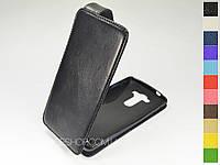 Откидной чехол из натуральной кожи для LG D855 G3