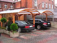 Модульный навес из дерева под автомобиль