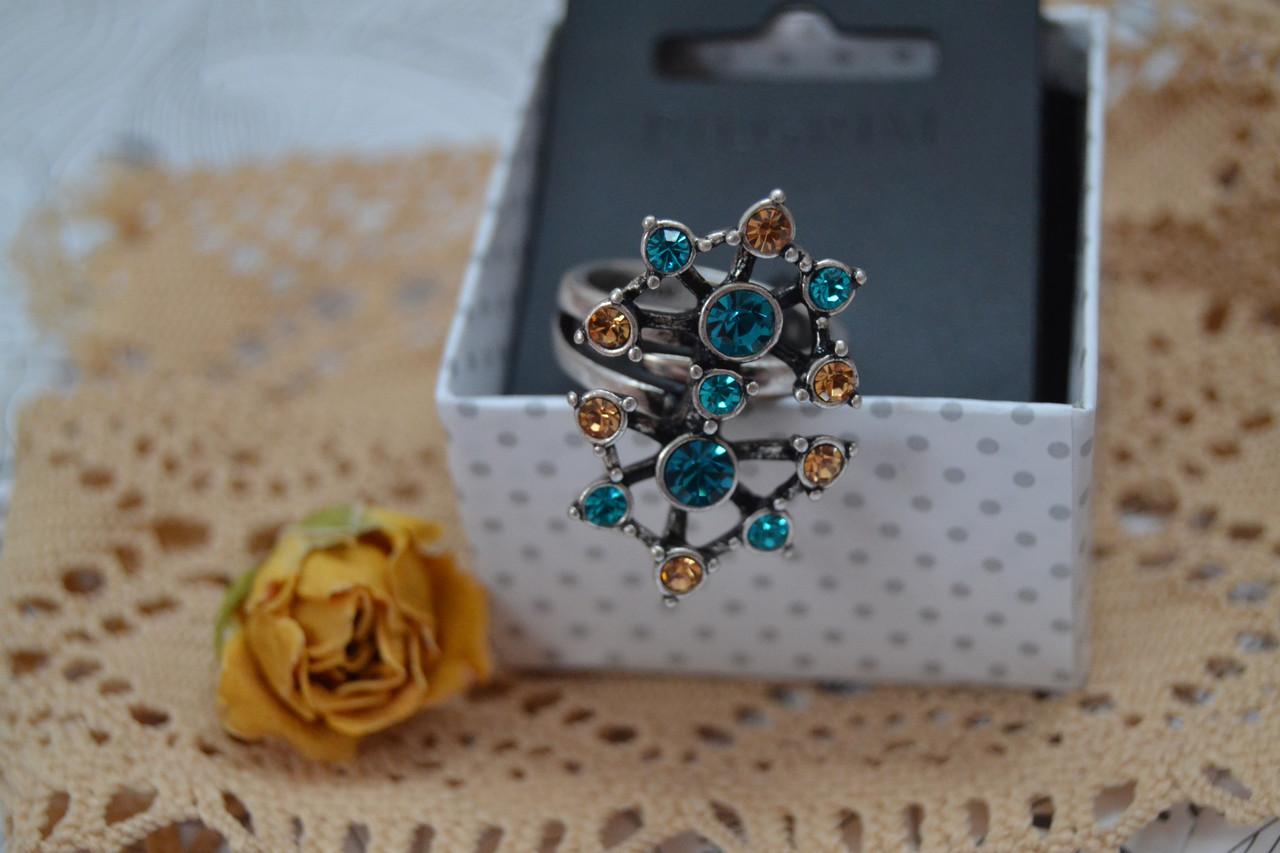 Регулируемое кольцо с серебряным покрытием Pilgrim