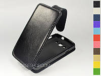 Откидной чехол из натуральной кожи для LG L60 Dual X135