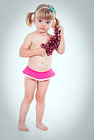 Плавки с помпонами, малиновые, 80, 86, 92, 98