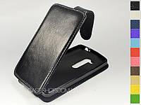 Откидной чехол из натуральной кожи для LG D295 L Fino Dual