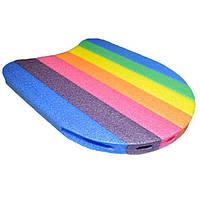 Доска для плавания разноцветная рр:35*31*2,8cm B1005. Распродажа!