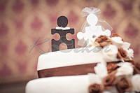 Пазлы Жених и Невеста (h10см.) фигурки на торт заготовки для декора