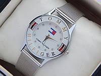 Женские (Мужские) кварцевые наручные часы Tommy Hilfiger на кольчужном ремешке, фото 1
