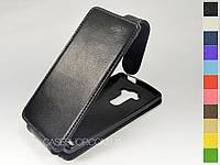 Откидной чехол из натуральной кожи для LG H734 G4s Dual