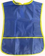 Фартук 45х36см с цельной спинкой +карман, полиэстер (69542) 7-8лет разные цвета