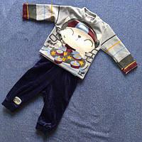 Костюм Велюровый для мальчика детский мальчик на скейте и наушниками цвета в ассортименте оптом