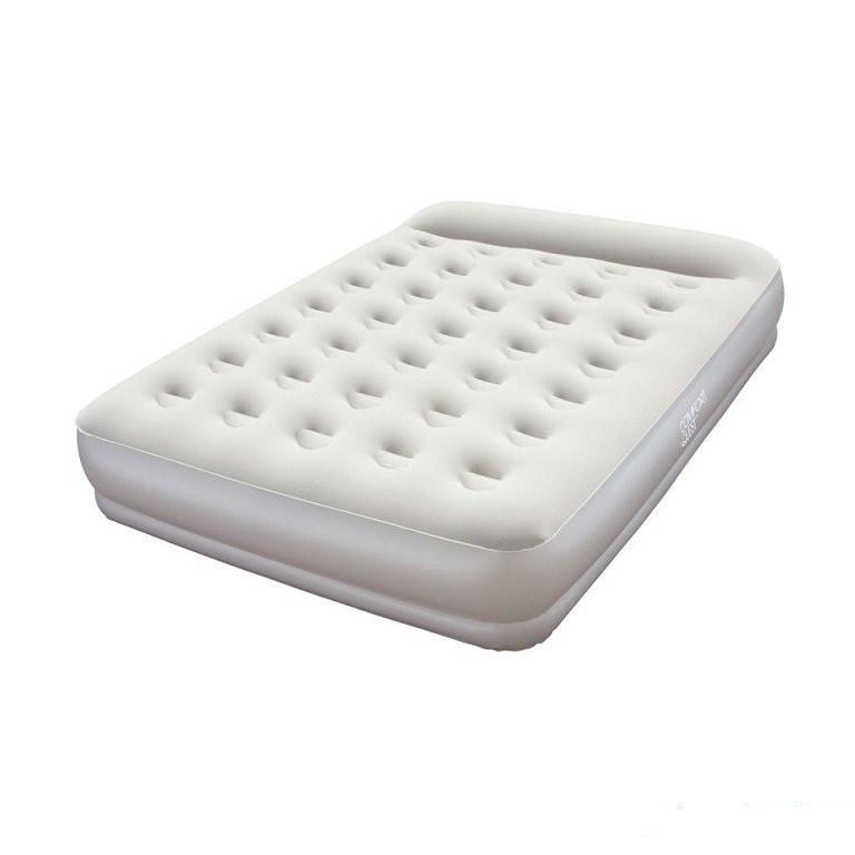 Надувна флокірована матрац ліжко одномісне Bestway сіра Ліжко 203х152х38 см