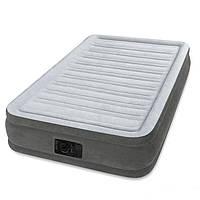 Надувная флокированная кровать Intex 67766, серая
