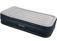 Односпальная надувная кровать с насосом Intex 67732