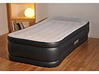 Односпальная надувная кровать с насосом Intex