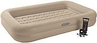 Детская надувная флокированная кровать Intex 66810