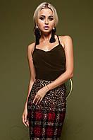 Стильный женский топ Арси  шоколад  Jadone Fashion 42-48 размеры