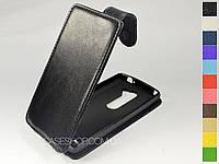Откидной чехол из натуральной кожи для LG H324 Leon