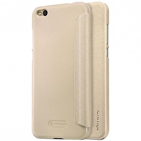 Кожаный чехол (книжка) Nillkin Sparkle Series для Xiaomi Mi 5c Золотой