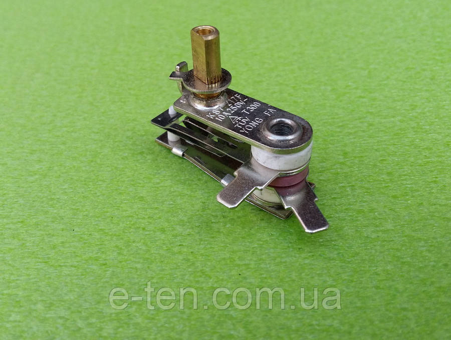 Терморегулятор KST-217F / 10А / 250V / T300 (высота стержня h=10мм) для электроплит, электродуховок, утюгов