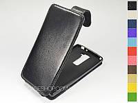 Откидной чехол из натуральной кожи для LG H502 Magna