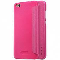 Кожаный чехол (книжка) Nillkin Sparkle Series для Xiaomi Mi 5c Розовый