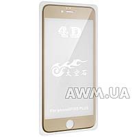Защитное стекло iPhone 6+ 4D (золото) без салфеток