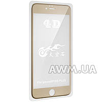 Защитное стекло для iPhone 6 Plus 4D (золото) без фирменной упаковки