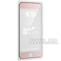 """Защитное стекло iPhone 6 4D (розовый) """"без комплекта"""""""