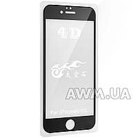 Защитное стекло iPhone 6 4D (черный) без салфеток