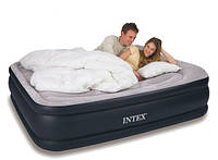 Двухспальная флокированная кровать Intex Ліжко 203х152х43 см