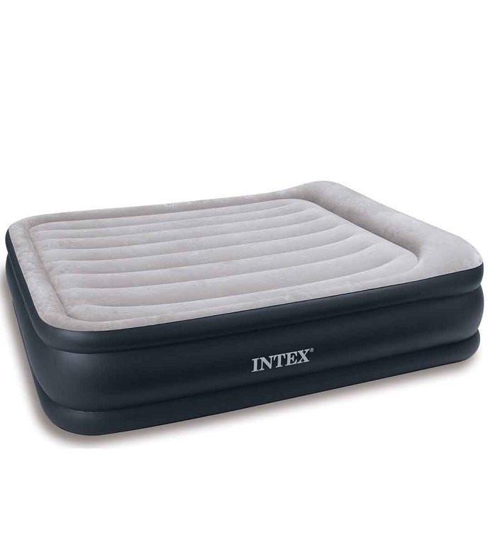 Двухспальная флокированная кровать Intex 6773 Ліжко 203х152х43 см