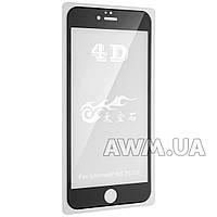 Защитное стекло iPhone 6+ 4D (черный) без салфеток