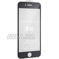 """Защитное стекло iPhone6 5D (черный) """"без комплекта"""""""