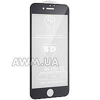 """Защитное стекло iPhone 7 5D (черный) """"без комплекта"""""""