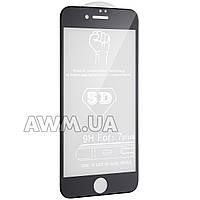 """Защитное стекло iPhone 7 Plus 5D (черный) """"без комплекта"""""""