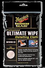 Полотенце микрофибровое белое - Meguiar's Ultimate Wipe Detailing Cloth 40х40 см. (E101)