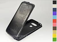 Откидной чехол из натуральной кожи для LG G5 SE