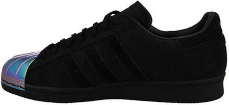 Мужские кроссовки Adidas Superstar 80S Metal Black, Адидас Суперстар, фото 2