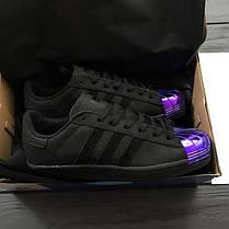 Мужские кроссовки Adidas Superstar 80S Metal Black, Адидас Суперстар, фото 3