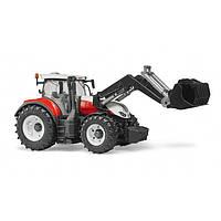 Игрушка - трактор Steyr 6300 Terrus с погрузчиком красно-белый, М1:16, 3181