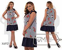 Летнее платье на бретелях БАТ 710 (6922)