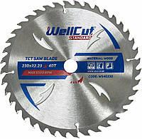 Диск пильный по дереву WellCut Standard 230*22.23  40 t