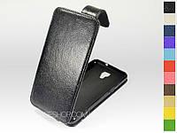 Откидной чехол из натуральной кожи для LG K500 X View