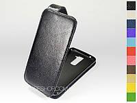 Откидной чехол из натуральной кожи для LG K7 X210 Dual Sim