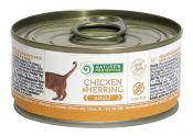 Консервы для кошек Nature's Protection Adult Chicken & Herring