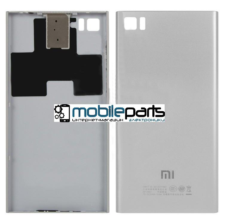 Задняя панель корпуса (крышка) для Xiaomi Mi3 (Серебристая)