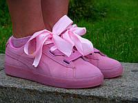 Женские Кроссовки Puma Suede Basket Heart Pink