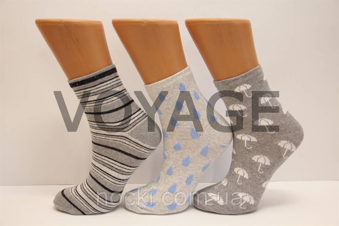 Жіночі шкарпетки середні стрейчеві п/е НЛ 23-25 JLE-13 зонтики