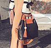 Женская сумка с ручками Julia c кисточкой Черный, фото 2