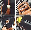 Женская сумка с ручками Julia c кисточкой Черный, фото 4